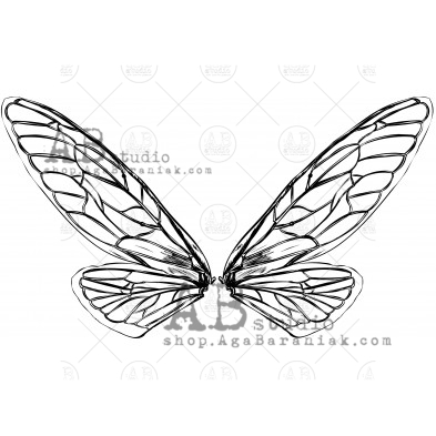 "Rubber stamp ID-903 ""insect wings"""